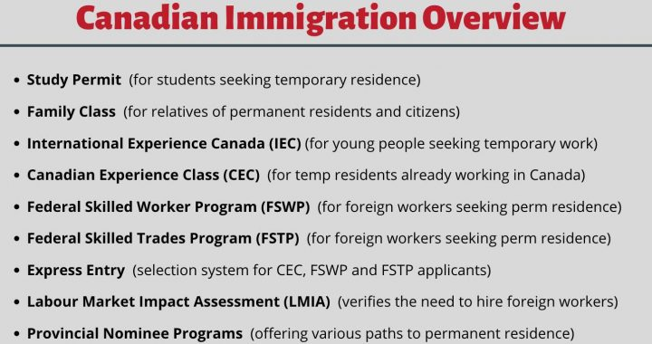 Various Immigration Stream Options for Canadian Immigration