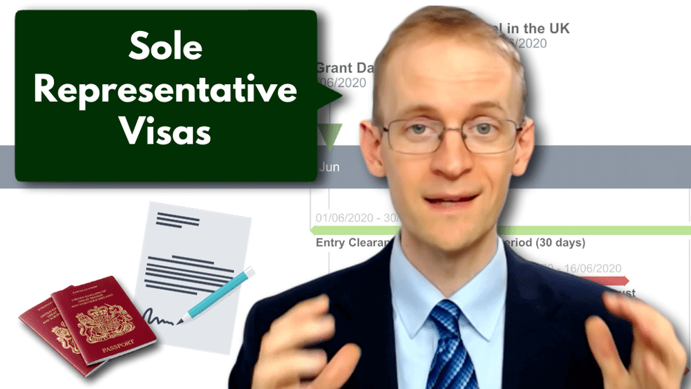 What is the UK's Sole Representative Visa Scheme, and how does it work?
